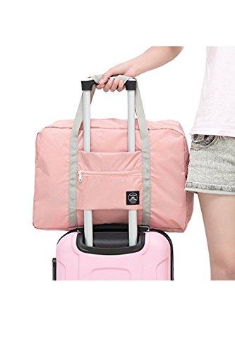 Wine Duffel Rose - BLAU GRUN Travel Lightweight Waterproof Foldable Storage Tote Bag Carry Luggage Handbag Light Orange