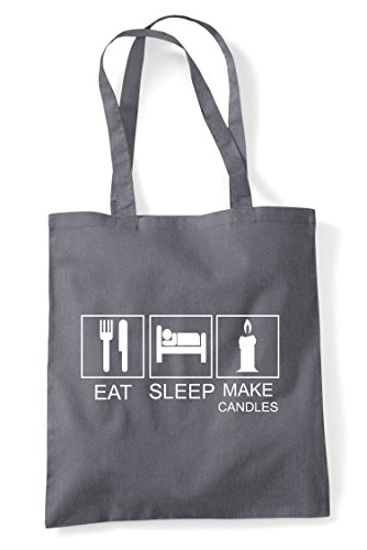 Tote Hobby Activity Shopper Candles Eat Dark Tiles Grey Funny Bag Sleep Make 0BXRa