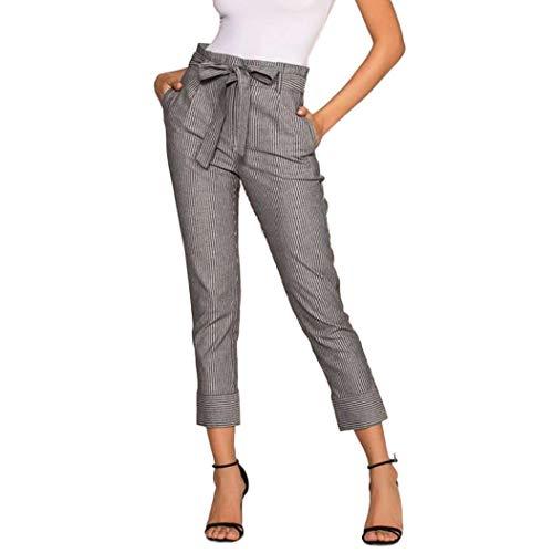Stripe Zolimx Nero Soprt Ad Donne Pantaloni Donna black Pantaloni Alta Moda  Slim Harem Stretti Vita ... 7ea32a1d980e