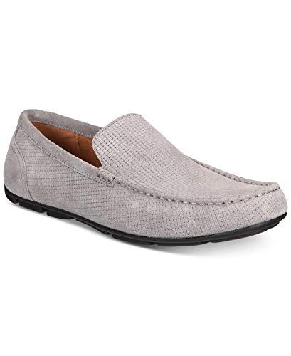 Alfani Mens Kendric Leather Square Toe Moccasins, Tornado Grey, Size 10.0 (Shoes Mens Alfani)