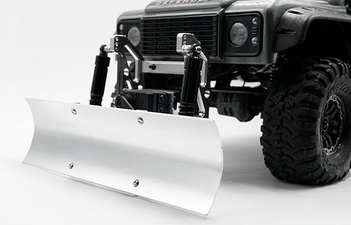 Xtra Speed Aluminum Alloy Snow Plow Blade w/ Chassis Mount For Traxxas TRX-4 AXIAL SCX10 / II #XS-TX28020 ()