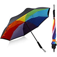G4Free Double Layer Inverted Umbrella Cars Reverse Open Folding Umbrellas