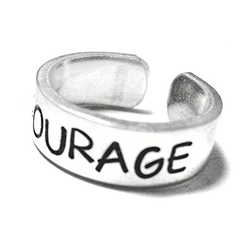 Inspirational Aluminum Ring Courage Adjustable product image