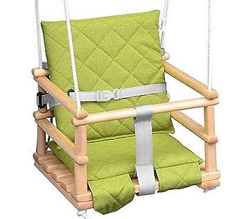 Natural//Hellgrau Kinderschaukel Babyschaukel Holz Babywippe Zimmerschaukel Indoor Baby Schaukel Stoff Babysitz Baby Schaukel zum Aufh/ängen 4 in 1