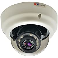 ACTI 2MP Indoor Zoom Dome with D/N, Adaptive IR, Basic WDR, SLLS, 3x Zoom lens / B65 /