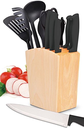 "Holzhaus 4-Piece Ceramic Kitchen Knife Set of 6"" Chef's 5"" Utility 4"" Paring & Peeler Review"