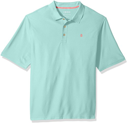 IZOD Men's Big Advantage Performance Solid Polo, Dusty Jade Green, 5X-Large Tall Big And Tall Rugby