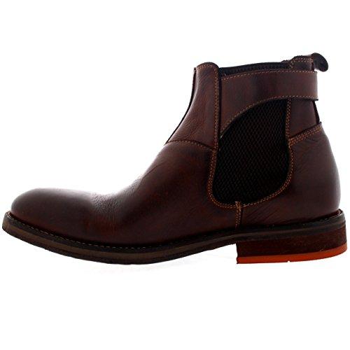 Hudson Bottes Chaussures Hommes Bureau Chelsea Parson H De De Intelligentes Brun Par Cuir Travail x6EEnagTX