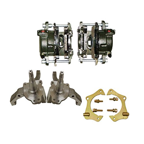 Ford Mustang II/Pinto Forged 1 Piece 2'' Drop Spindles & GM Metric for 10mm Front Disc Conversions Front DISC Brake Caliper & 11'' Caliper Bracket Kit by DEMOTOR