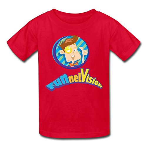 (Spreadshirt Funnel Vision Official Merch Kids' T-Shirt, Youth XL, red)