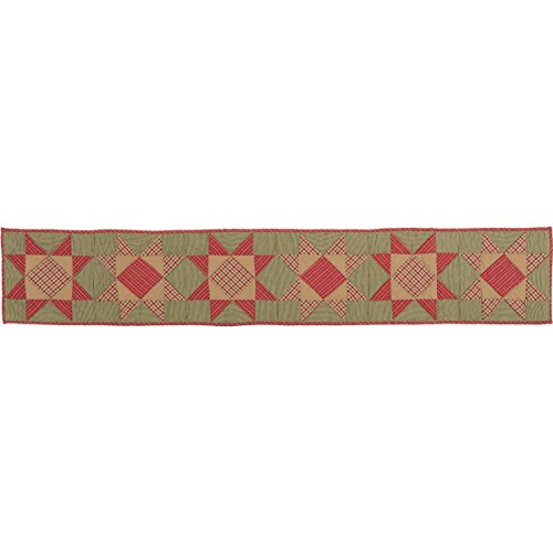 - VHC Brands Primitive Holiday Tabletop & Kitchen-Dolly Star Quilted Runner, 13