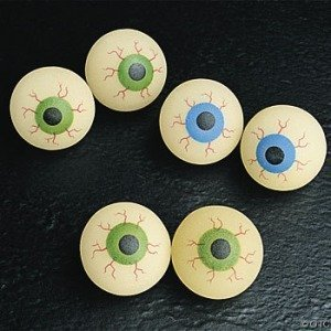 Rinco BAEYE32 Glow In The Dark Halloween Eye Ball - 32Mm - Pack Of -
