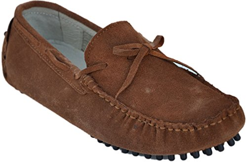 Karlsen Shoes 100% Leder Mokassins, Braun ka265-brown