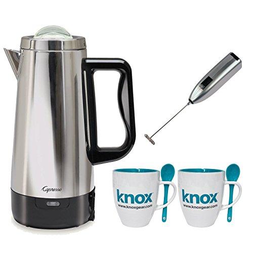 Capresso 12-Cup Perk Coffee Maker (Stainless Steel Pot & Lid) Bundle