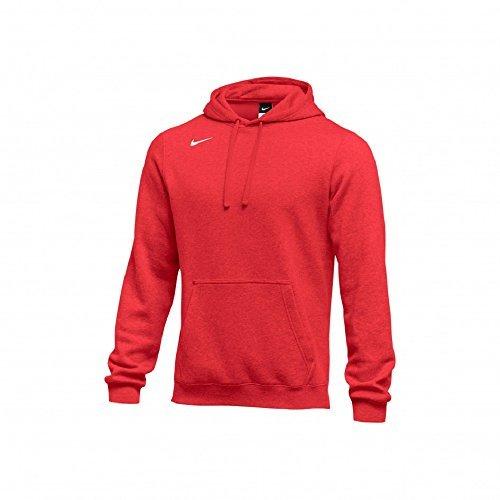 Nike Men's Club Fleece Hoodie (Large, Red) (Hoodie Red)