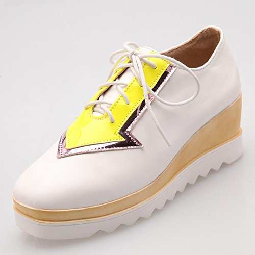 Mouth Fashion Shoes Color Fight EUR36 with Women's Shallow Waterproof Shoes Boots 5 Table white the qv0wOEY
