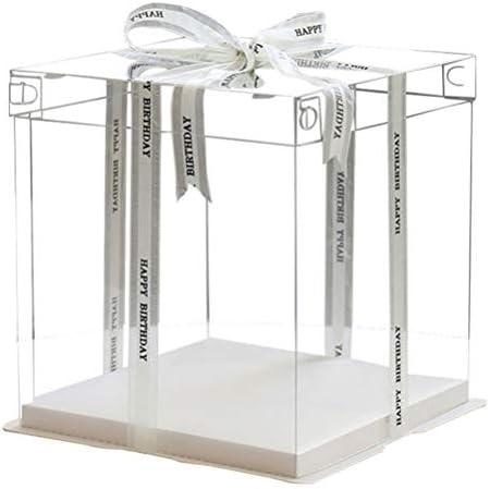صندوق هدايا شفاف للكيك من ياردوي مقاس 30 48 سم من أجل هدايا الزفاف وحفلات استقبال المولود Amazon Ae