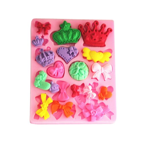 Price comparison product image Mavis's Diary Silicone Gel Non-stick Cake Bread Mold Fondant Decoration Chocolate Jelly Candy Baking Roasting Mould (19 Sets of Different Shape)