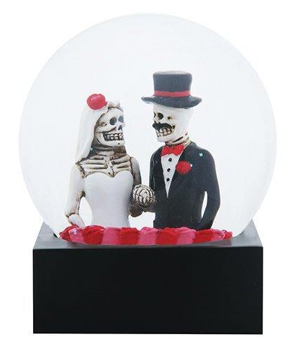 Black and White Day of The Dead Bride and Groom Decorative Water -