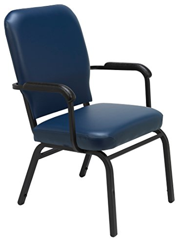 - KFI Seating Big Tall Guest Chair, Navy Vinyl