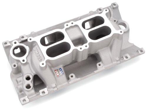- Edelbrock 7526 SBC Dual Quad Air Gap Intake Manifold