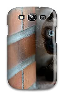 Hot New British Blue Cat Case Cover For Galaxy S3 With Perfect Design