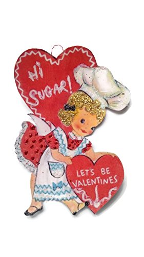 Valentine's Day Card Ornament Decoration Chef Baker Girl Retro Handmade Holiday Gift