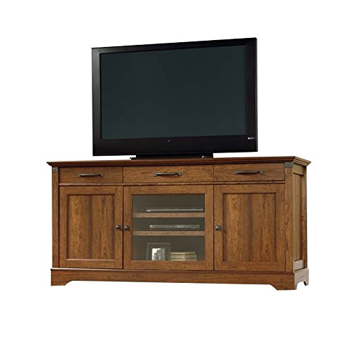 Tv Console Wooden Corner (Sauder Carson Forge Tv Stand In Washington Cherry)