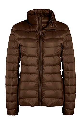 ZSHOW Women's Outwear Down Coat Lightweight Packable Pillow Down Jackets, US X-Large, Coffee