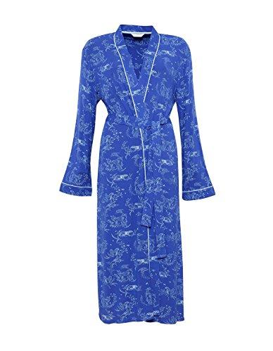 Elisa Robe 3886 Loungewear Print Cyberjammies Gown Blue Bath Dressing Robe Reindeer Women's npxqf1Uv