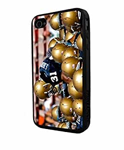 NCAA ND Notre Dame Team I, Cool iPhone 4/4sCase Cover Collector iPhone TPU Rubber Case Black