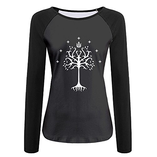 The Lord Of The Rings Tree Of Gondor Hot SELLER Women Noveity Round Neck Raglan Sleeves Long Sleeve Autumn Wear T-Shirt