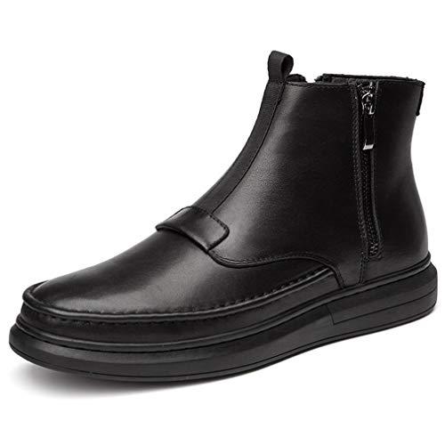 Aire 43 Al Hombres Botas Martin Senderismo Alto invierno Nuevo Otoño Los Cremallera De Zapatos Libre black top Gfphfm Cuero Casual ZqHAwgx6