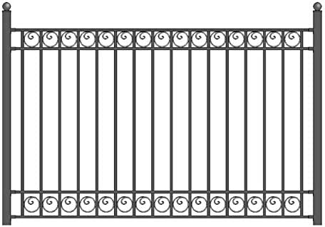 Amazon Com Aleko Fencedub Dublin Style Galvanized Steel Fence