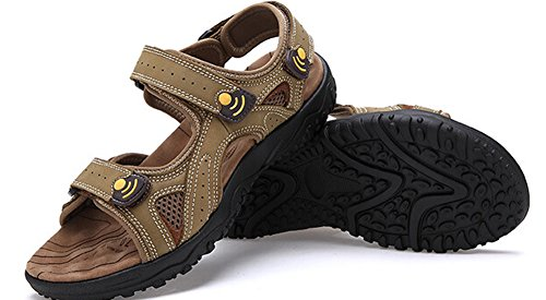 Hw-varor Mens Läder Fiskare Sandaler Mode Utomhus Skor Khaki