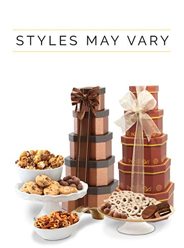 Broadway Basketeers Birthday Gift Tower. The Perfect Birthday Gift for All to Enjoy! - http://coolthings.us