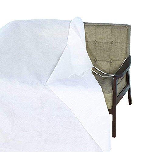 Jumbo Furniture Protector White Dust Covers Waterproof Non-Woven Mouldproof Shelter Cover Large Storage Protector for Bed Sofa Loveseat with Adjustable Secure Rope Best Xmas Gift HRFC01 126