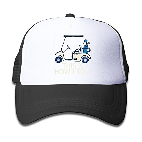 Xin Pilig This Is How I Roll Golf Cart Youth Mesh Hats Boy and Girls Baseball Trucker ()
