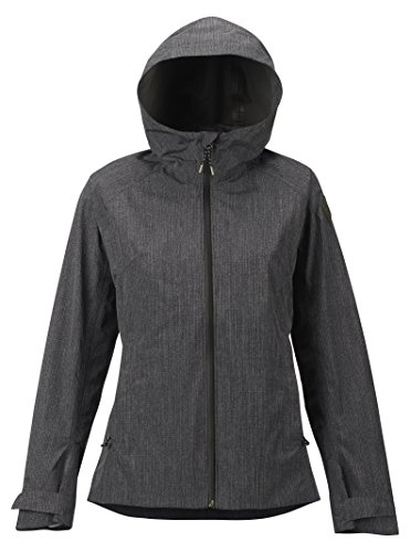 Burton Women's Gore-Tex Day-Lite Rain Jacket, True Black Heather, X-Large ()