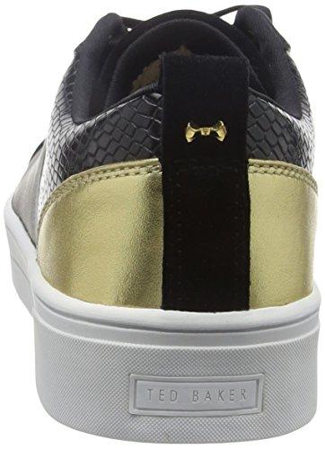 Baker Femme Ted Noir Sneakers Basses Kulei Black Rose Gold 1avCwAq