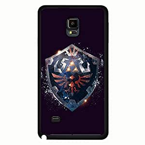 Simple Style Ocarina of Time Theme Legend of Zelda Phone Case Design Black Hard Plastic Case Cover For Samsung Galaxy Note 4 Legend of Zelda Series