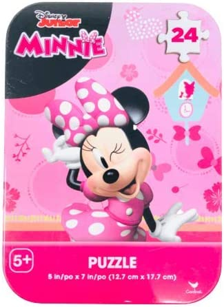 in a Gift Set 3 Disney Jr Jigsaw Puzzles 24 Piece Each in Storage Tins Featuring Disney Jr Mickey and Minnie Mouse Donald Duck and Goofy for Girls Boys Ages 5 3 Sets