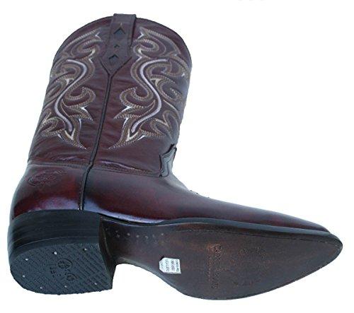 Menns Glatte Ekte Skinn Cowboy Boots, Medium Tå Profil Cognac