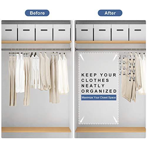 DOIOWN Skirt Hangers 4 Tier Pants Hangers Space Saving Hangers Closet Organizer for Skirt, Pants(3 Pieces) (3 Pieces)