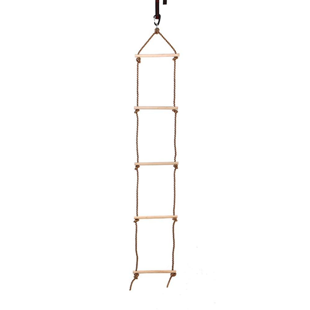 Children Climbing Rope Ladder Swing Indoor and Outdoor 5 Ladder Climbing Ladder Children Garden Games Sports Toys Fitness Equipment by Children's swing (Image #1)