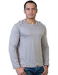 """<span class=""""a-offscreen"""">[Sponsored]</span>Steven Craig Men's Long Sleeve Crew Neck T-Shirt with Trim"""