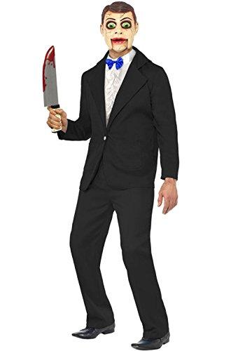 [Mememall Fashion Creepy Killer Puppet Ventriloquist Dummy Adult Costume] (Ventriloquist Doll Costumes)