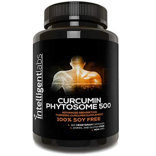 Intelligent Labs 500MG Meriva Curcumin Phytosome, 2900% Better Absorbed Than Ordinary Turmeric Curcumin 100% Soy Free, 120 Capsules Per Bottle, Tumeric Curcumin Phytosome Complex