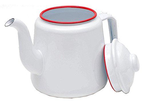 White Teapot Coffee Pot Ceramic Chinese Porcelain Miniature TP054