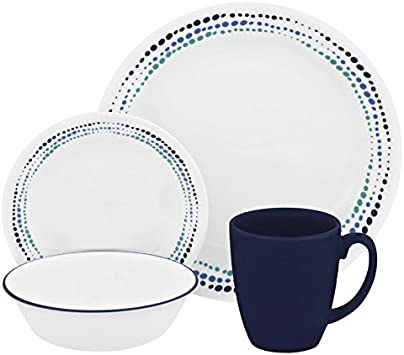 EUC Blue Ring Band Sandstone 5 Symphony Saucers 6 Inch- Price Is For All Read Below Corelle